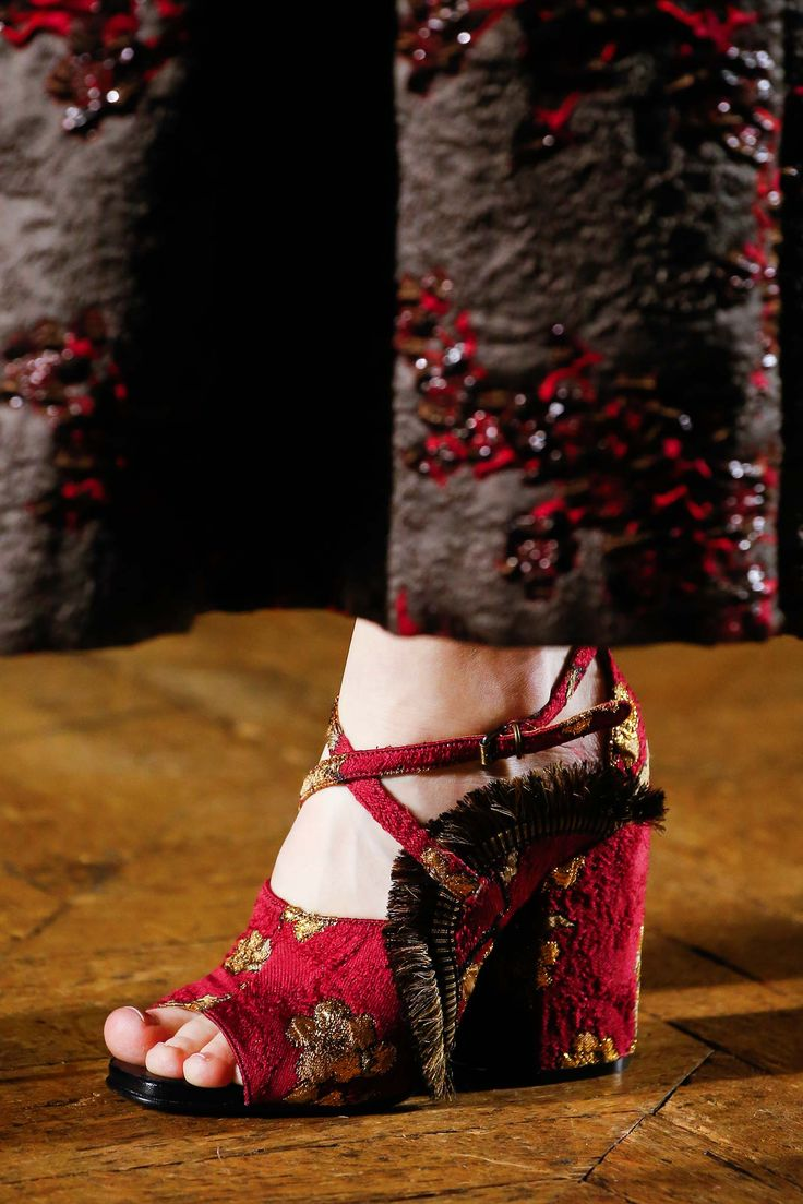 Tapestry for your toes. Dries Van Noten - Fall 2015 Ready-to-Wear