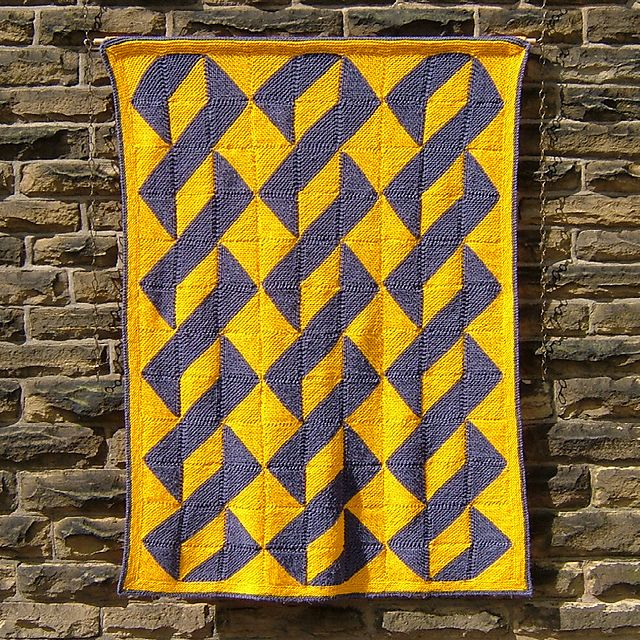 About Turn - Knitted afghan or wall-hanging