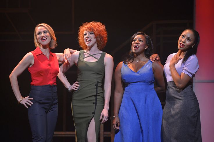 Carly Thomas Smith, Adrianna Rose Lyons, Monique L. Midgette and Kyra Little Da Costa in Smokey Joe's Cafe. Photo by Kevin Berne. http://www.pasadenaplayhouse.org/box-office/mainstage/smokey-joes-cafe-the-songs-of-leiber-and-stoller.html