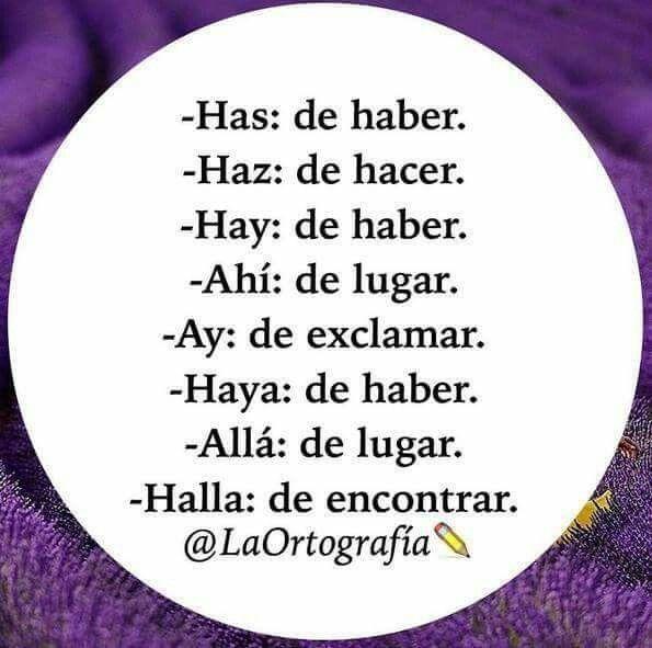 Has, Haz, Hay, Ahí y Ay