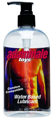 Adam Male Toys Condom Compatible Water Based Lubricant 16 oz. Funtimes209