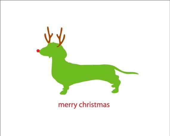 dog holiday card.