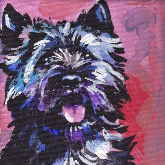 Cairn Terrier modern Dog art print pop dog art by BentNotBroken, $11.99 Pretty close to a Wauzer...minus the bent ears