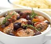 Kycklinggryta med svarta oliver