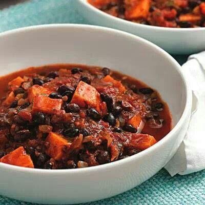 Sweet Potatoe & Black Bean Chili