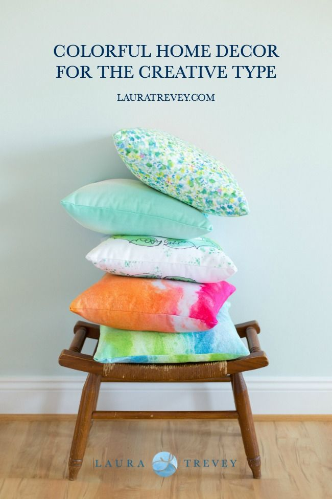 Colorful Laura Trevey Throw Pillows For The Creative Type Shop