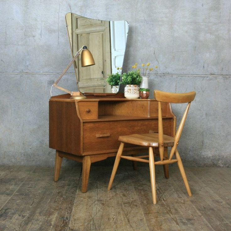 mid century g plan oak dressing table