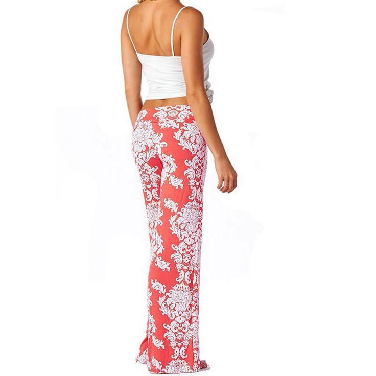 Summer 2016 African clothing Women Sport Boho Tribal Floral Enthic Dashiki Print Loose flare Wide Leg Palazzo Pants moletom