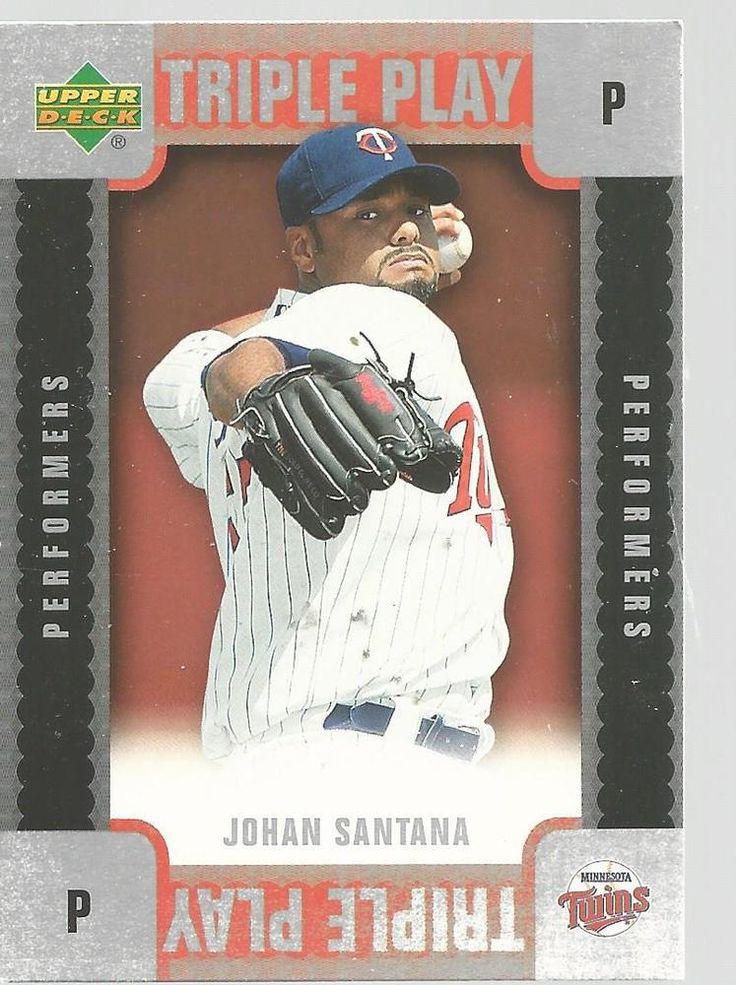 Johan Santana Triple Play Baseball Card 2007 Upper Deck TP-JS Unscratched #UpperDeck #MinnesotaTwins