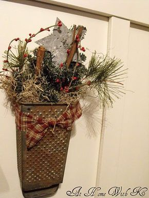 """Old Grater Christmas Decoration """"At Home With K"""""""