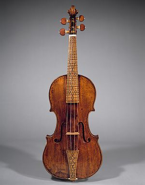Metropolitan Museum of Art                         Violin, 1669 made by Nicolò Amati (Italian, 1596–1684) Cremona, Italy Spruce, maple, other woods L. of body 13 13/16 in. (35 cm) (belly), L. of upper bouts 6 3/8 in. (16.1 cm), L. of middle bouts 4 3/8 in. (11 cm), L. of lower bouts 7 7/8 in. (20.1 cm) Gift of Evelyn Stark, 1974 (1974.229)