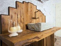 #Rifinitura #parete #bagno in legno