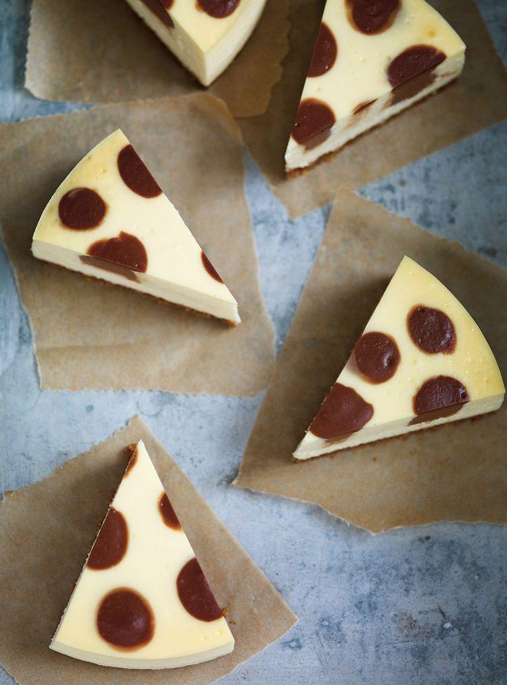 Recette de Ricardo de gâteau à pois choco-fromage