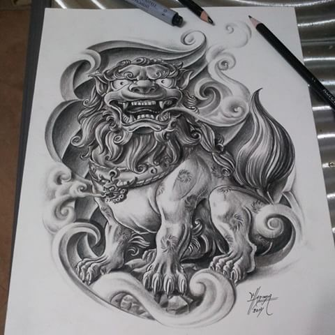 Resultado de imagen para perro foo tattoo