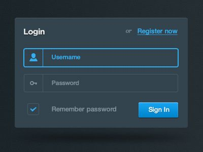 Login Form from Impressionist UI