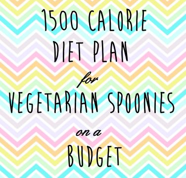 A 1500 calorie diet plan for Vegetarian spoonies on a budget