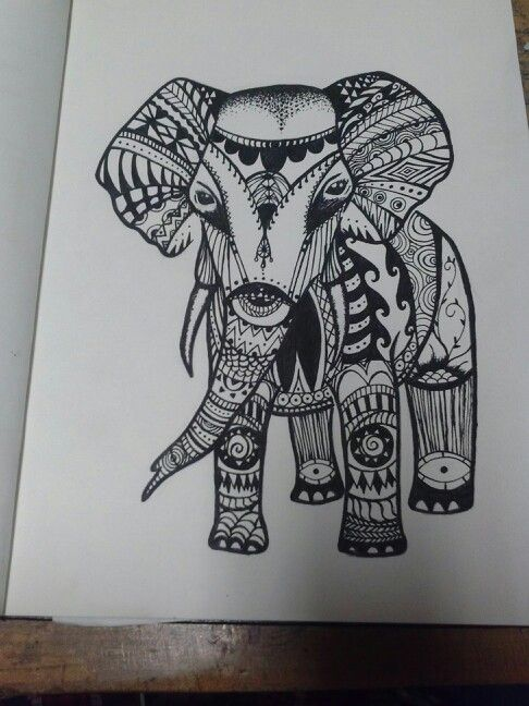 Tribal Print Elephant Tattoo | www.imgkid.com - The Image ...