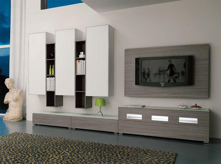 modern italian wall unit velvet 911 by artigian mobili. Black Bedroom Furniture Sets. Home Design Ideas