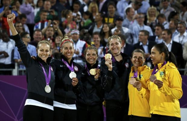 Beach volleyball-U.S. pair win third gold Olympics 2012-USA also 2nd.