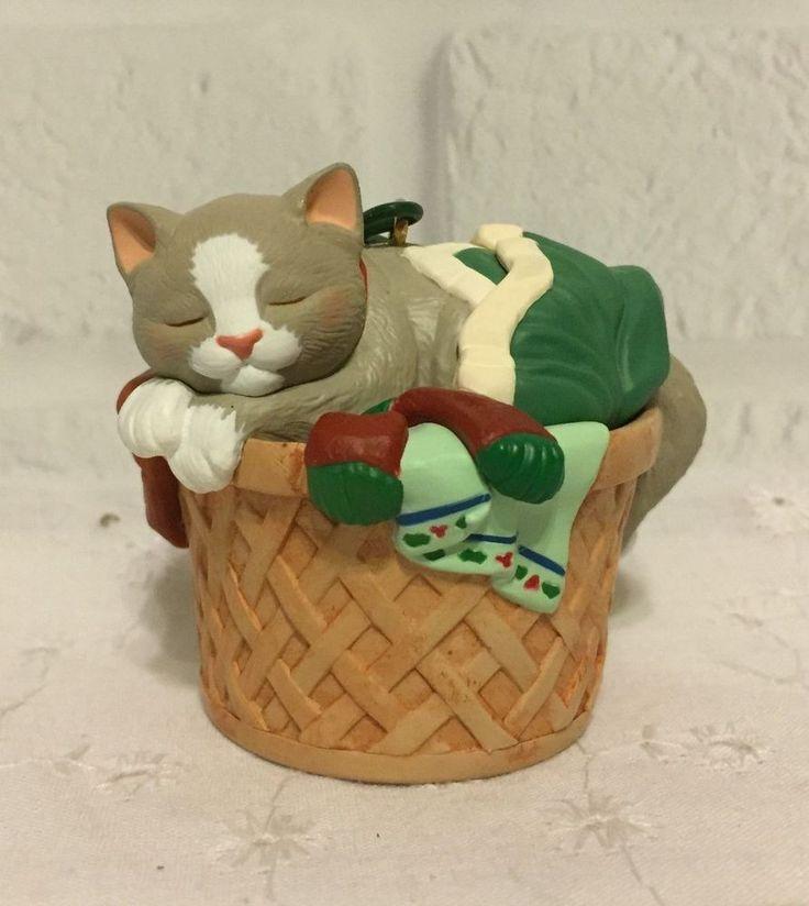 Hallmark Keepsake Ornament Cat Naps. In A Laundry Basket # 5 in the Series 1998. | eBay!