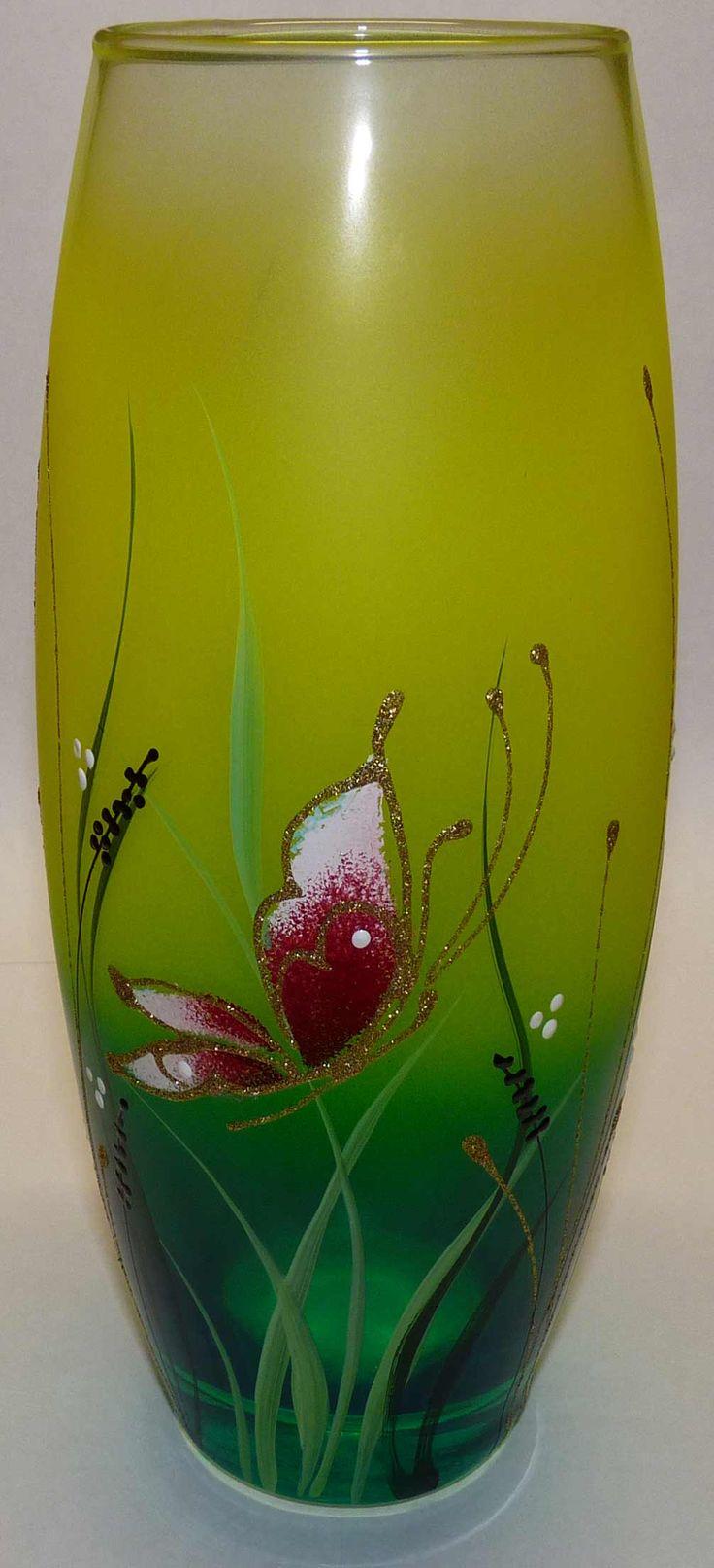 SHOP-PARADISE.COM:  Стеклянная Ваза Flora 260 мм дизайн зеленовато-желтый 19,32 €