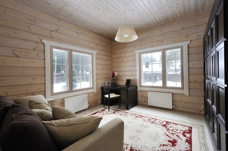 Фото интерьера баокона небольшого дома в стиле кантри