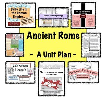 **Back to School Time**  Ancient Rome Unit:  A unit full of engaging, student-centered activities!