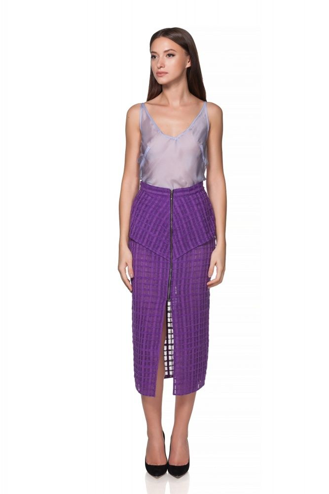 Maria Alina Margulescu – Borangic Grid Skirt