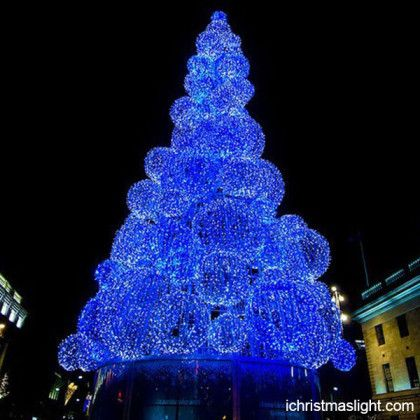 LED Christmas Trees Blue Ball Light Trees