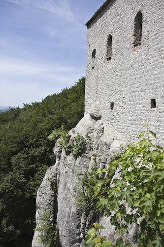 Virtual Tour of La Verna Sanctuary, Where St. Francis Received the Stigmata: Detail Picture of La Verna Building Construction