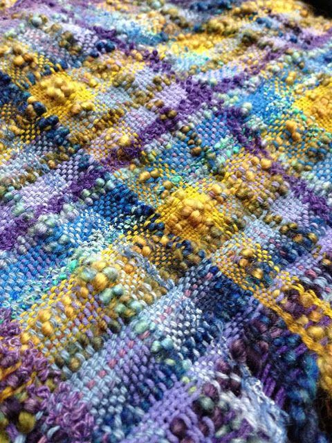 CENTERING WITH FIBER: Saori weaving as a featured artist at a local gallery