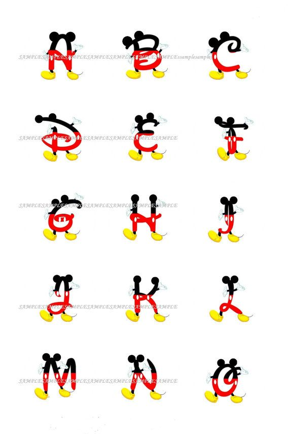 mickey mouse letters mickey font birthday ideas fonts 23637