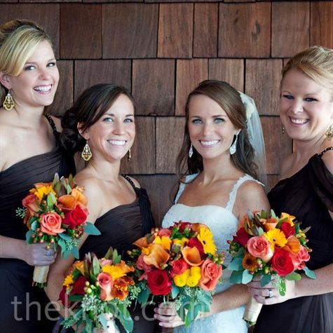 Real Weddings An Outdoor Autumn Wedding In Dahlonega Ga Fl Bouquets