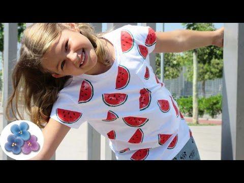 Pintura en tela: Camisetas Personalizadas Sandia RE FACIL DIY moda 2015 Pintura Facil - YouTube