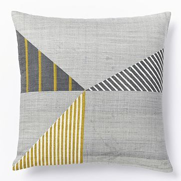 Steven Alan Hand-Blocked Triangle Pillow Cover - Golden Gate
