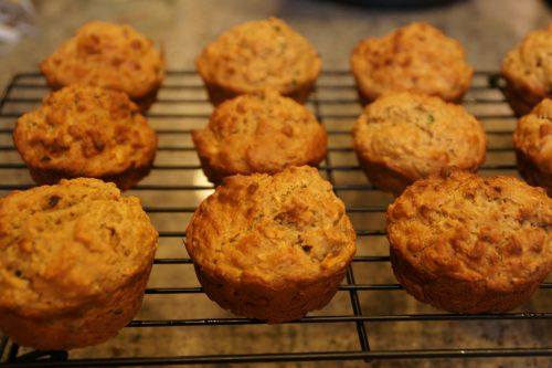 Zucchini, carrot and apple muffins