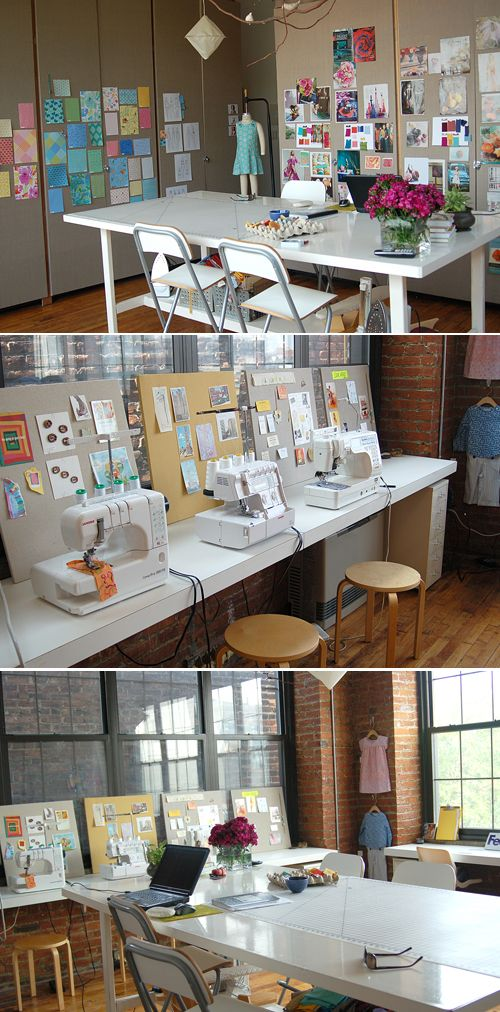 """I'm inspired to complete my own sewing space and share """"Where I Sew""""! After seeing this, I think I'm going to need a bigger sewing room! ;)"""