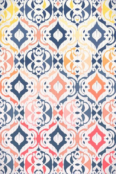 Tropical Ikat Damask Art Print