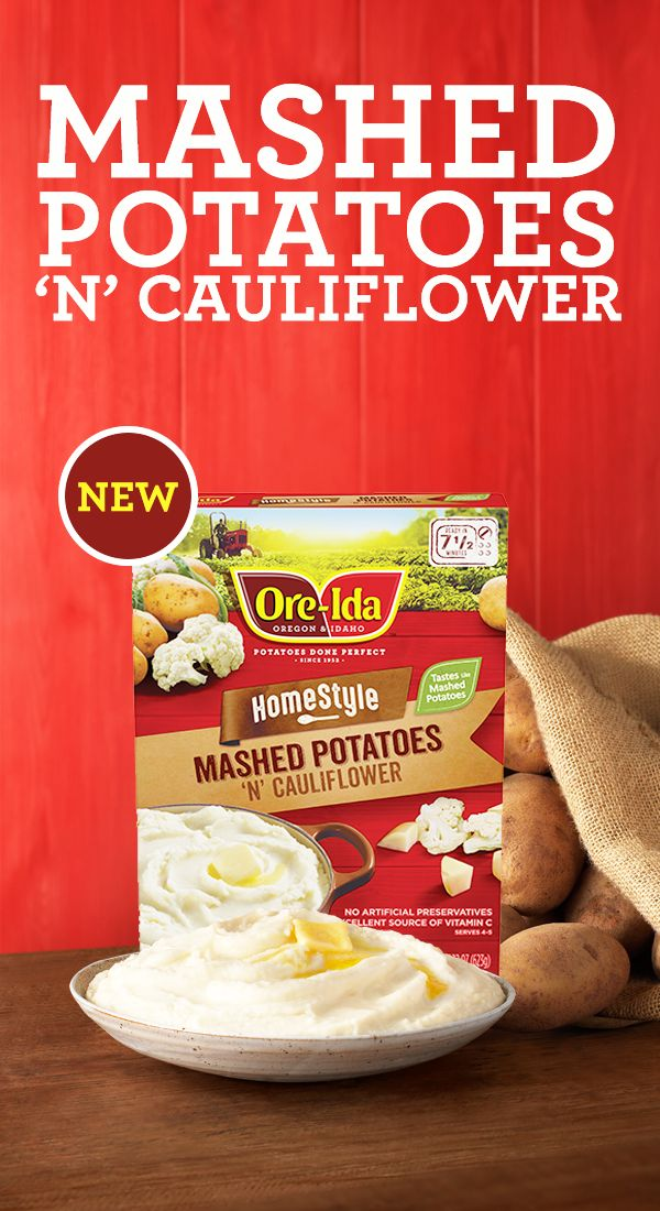 Real potatoes and real cauliflower. Try new Ore-Ida® Mashed Potatoes 'N' Cauliflower. Available in the freezer section. http://juicerblendercenter.com/juice-bar-or-juicer/