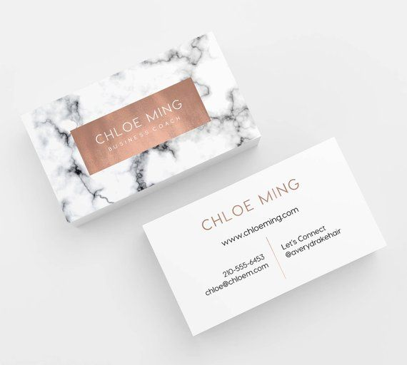 Marble And Copper Printed Business Cards Business Cards Business Card Design Custom Busine Salon Business Cards Esthetician Business Cards Spa Business Cards