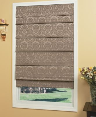 Home Basics Window Treatments, Damask Floral Roman Cordless Shade - Blinds & Shades - for the home - Macy's; $220