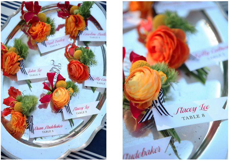 Gorgeous Pink, Red and Orange Ranunculus boutonnieres | Barn Lovely (florals by The Little Branch)