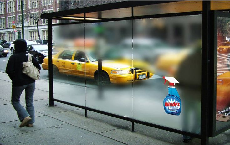 Windex commercial from Jesuk Lee Commercial. I think this is very creative because of the weather(This place looks like NYC), it gets foggy on windows. So, this is very effective commercial without any celebrities, words and pictures.  http://www.jeski.org/bbs/board.php?bo_table=commercial_id=14