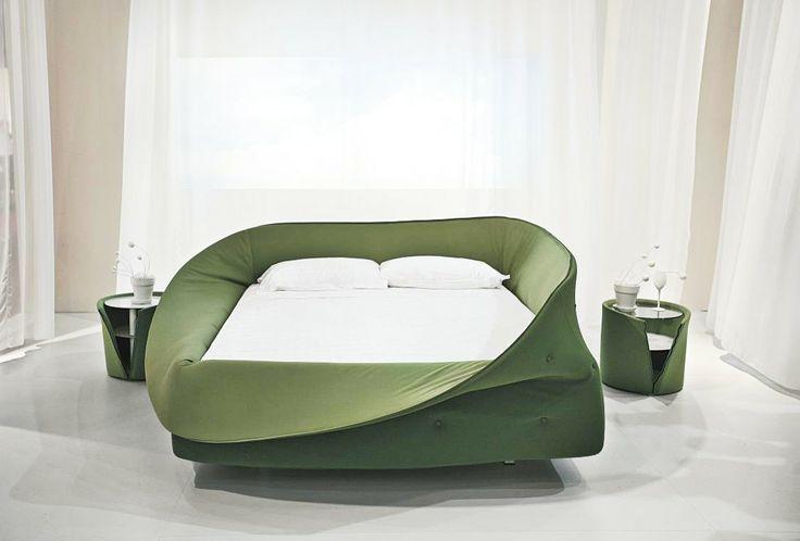 Colletto Bed - Designed by Nuša Jelenec @Lagostudio 2009  ELLE DECO International Design Awards Winner - www.lago.it/colletto.html?&L=1 #lagostudio #lagodesign #bedroom