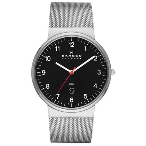 Skagen herren armbanduhr xl analog quarz leder 234xxltlb