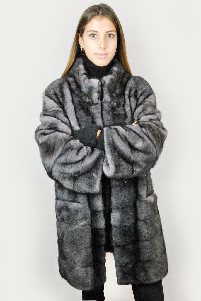 JESSIMARA GREY MINK FUR COAT