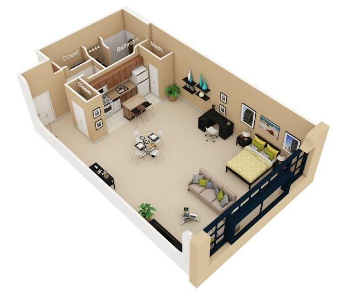 10 Floor Plans. Small Apartment LayoutStudio ...