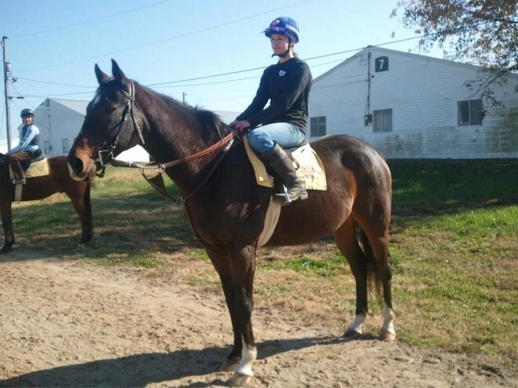 Sarah Anne Marie Mahrle, riding Mo. Training Center