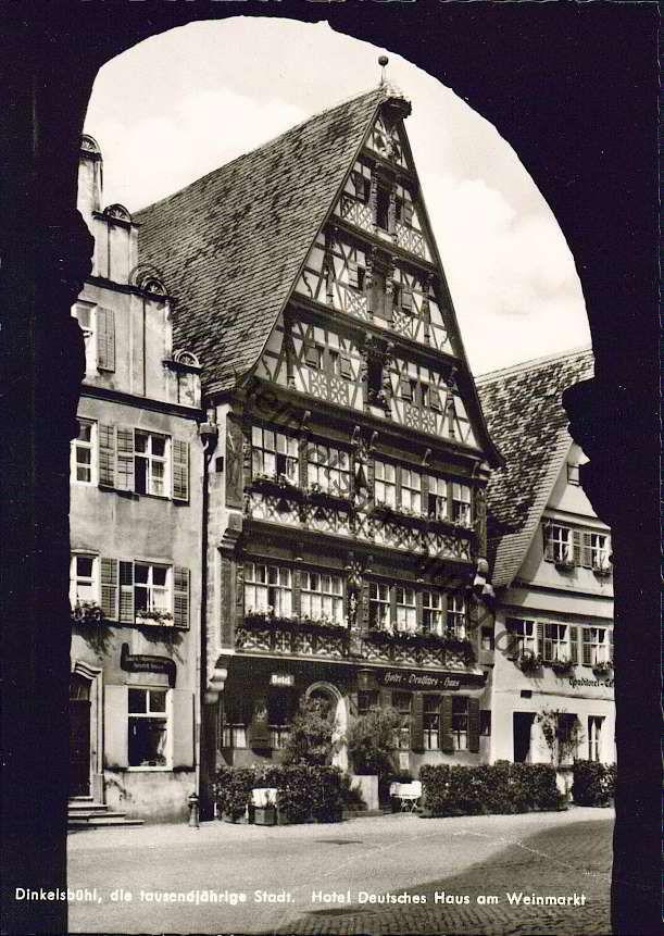dinkelsbühl  | Dinkelsbühl - Hotel Deutsches Haus am Weinmarkt - Verlag Robert ...