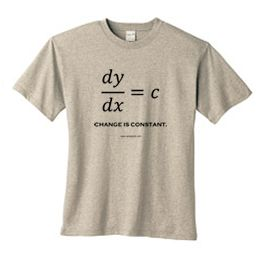 Change Is Constant | Math T-Shirts | Geek Shirts | Nerdy T-Shirts | Science Shirts | Equation T Shirts.